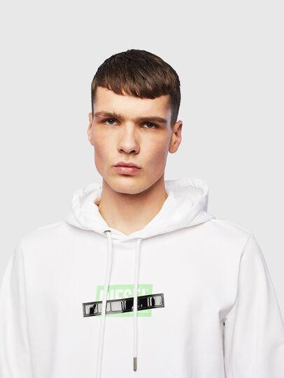 Diesel - S-GIRK-HOOD-S1, White - Sweatshirts - Image 5