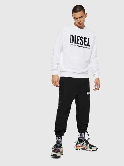 Diesel - S-GIR-DIVISION-LOGO, White - Sweatshirts - Image 7