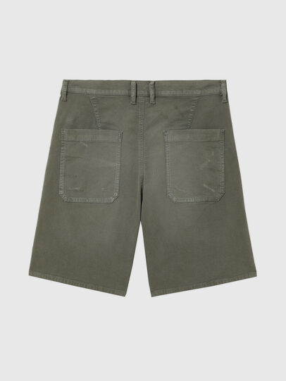 Diesel - D-AZERR-SHORT JOGGJEANS, Vert Militaire - Shorts - Image 2
