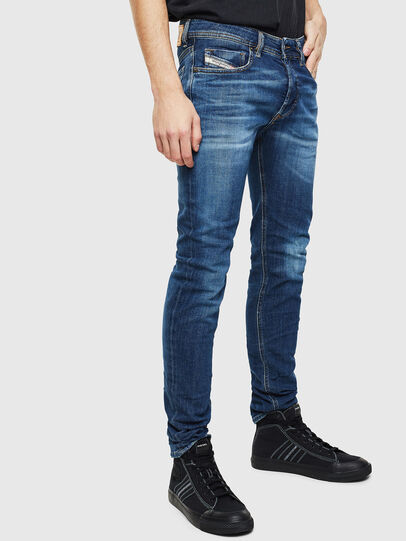 Diesel - Sleenker 0097T, Bleu Foncé - Jeans - Image 4