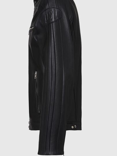 Diesel - L-BOY, Noir - Vestes de cuir - Image 5