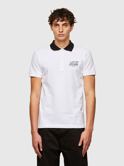 Diesel - T-RANDY-NEW-A1, Blanc - Polos - Image 1