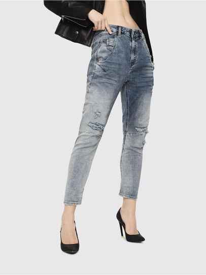 Diesel - Fayza JoggJeans 069FC, Medium Blue - Jeans - Image 1