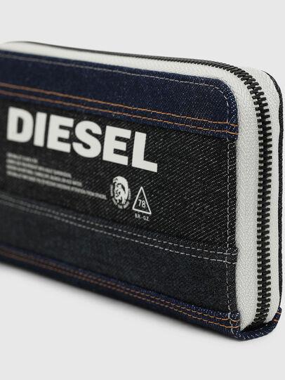 Diesel - 24 ZIP, Noir/Bleu - Portefeuilles Zippés - Image 4