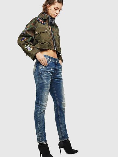 Diesel - Krailey JoggJeans 0870Q, Bleu moyen - Jeans - Image 6