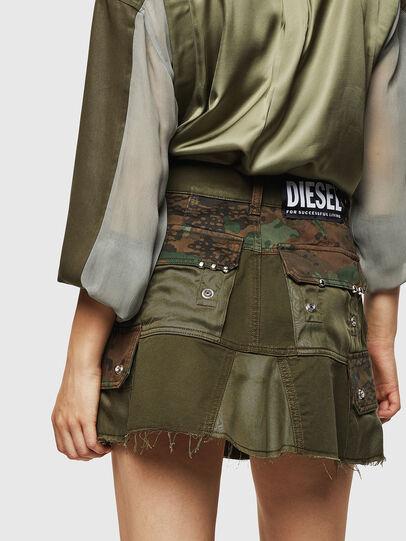 Diesel - O-AMATA, Vert Camouflage - Jupes - Image 2