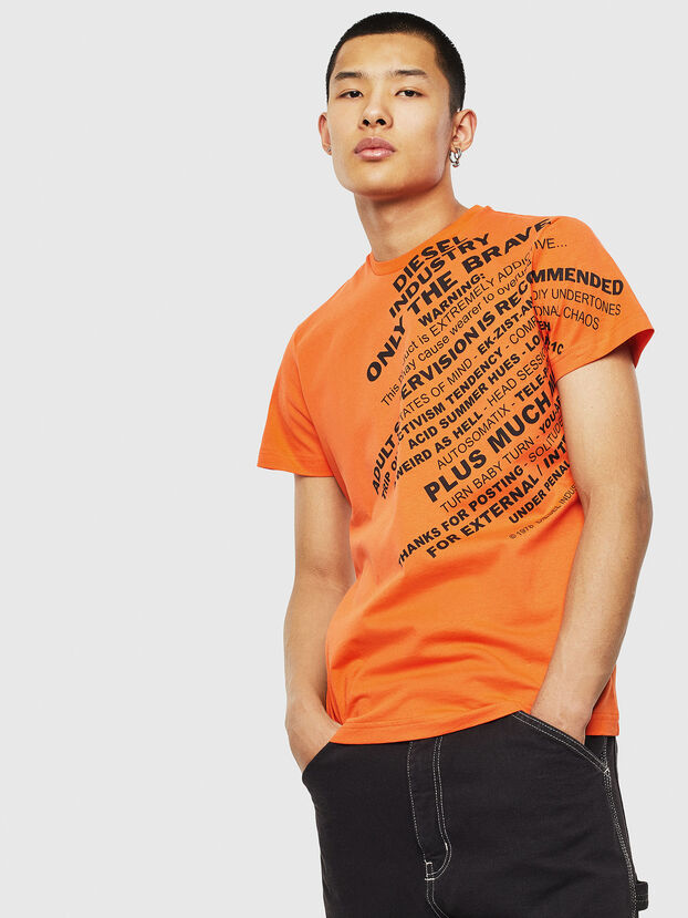 T-DIEGO-S3, Orange - T-Shirts