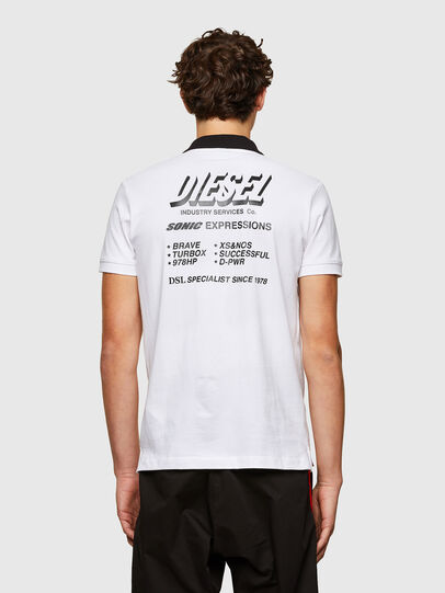 Diesel - T-RANDY-NEW-A1, Blanc - Polos - Image 2