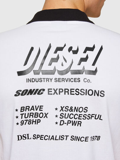 Diesel - T-RANDY-NEW-A1, Blanc - Polos - Image 3