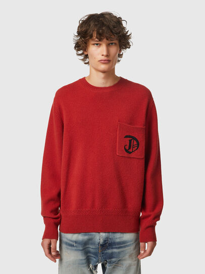 Diesel - K-BOSTON, Red - Sweaters - Image 1