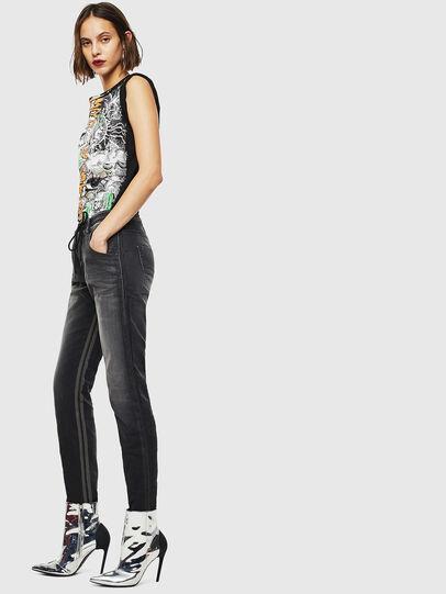 Diesel - Krailey JoggJeans 0094Q, Noir/Gris foncé - Jeans - Image 5