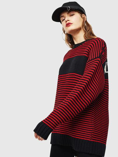 Diesel - K-BALLIS, Red/Black - Sweaters - Image 2