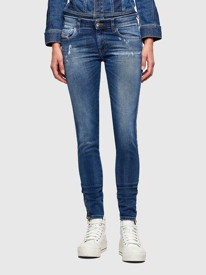 Diesel - Slandy Low 009PU, Bleu moyen - Jeans - Image 1