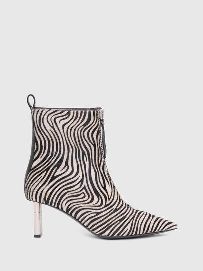 Diesel - D-LEZIPPO MAB, Black/White - Ankle Boots - Image 1