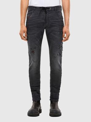KROOLEY JoggJeans® 069RA, Noir/Gris foncé - Jeans