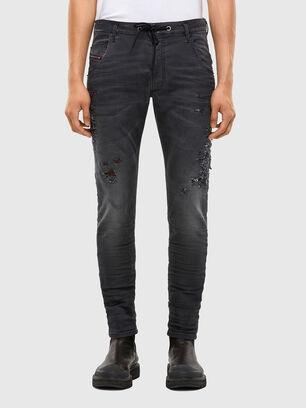 Krooley JoggJeans 069RA, Noir/Gris foncé - Jeans