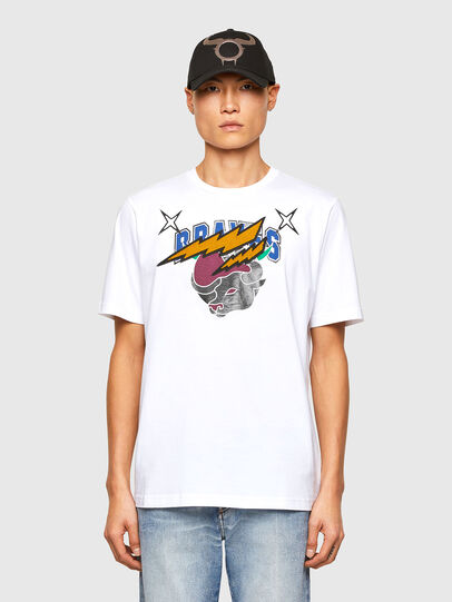 Diesel - CL-T-JUST-O1, Blanc - T-Shirts - Image 1