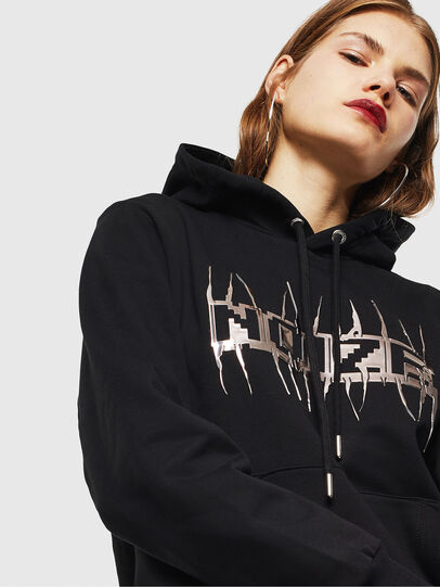 Diesel - S-GIRK-HOOD-J1, Black - Sweatshirts - Image 5
