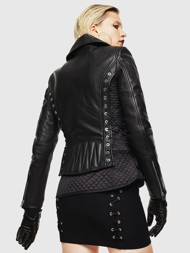 L-CARAMA, Black - Leather jackets