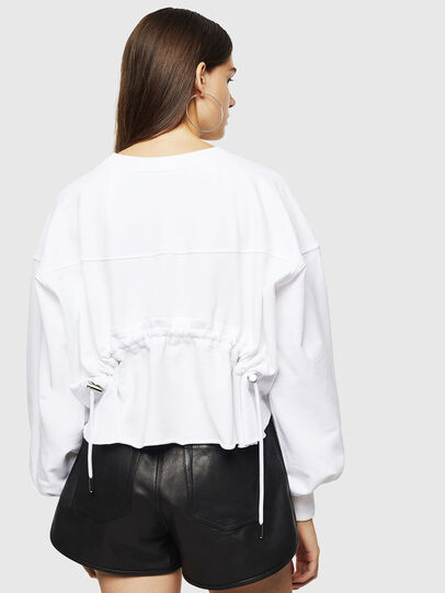 Diesel - F-MONDY, Blanc - Pull Cotton - Image 2