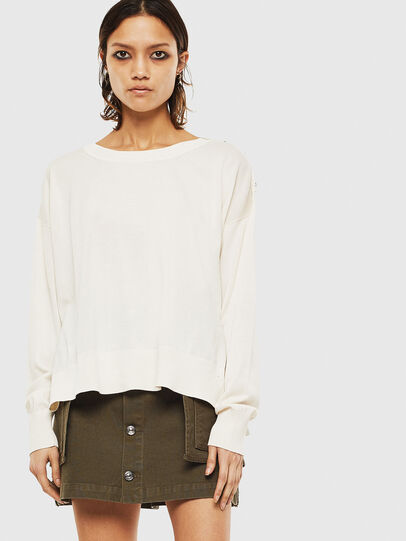Diesel - M-PERLA-A, Blanc - Pull Maille - Image 1