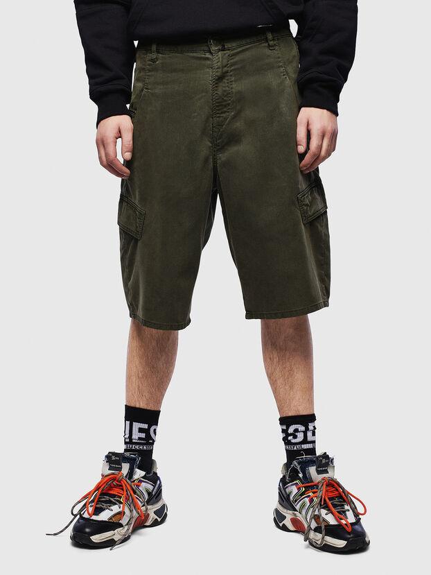D-KRETT-SHORT JOGGJEANS, Vert Militaire - Shorts