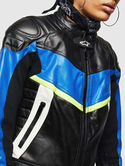 Diesel - ASTARS-LQUATTRO, Black - Leather jackets - Image 5