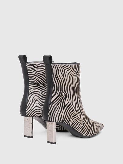 Diesel - D-LEZIPPO MAB, Black/White - Ankle Boots - Image 3