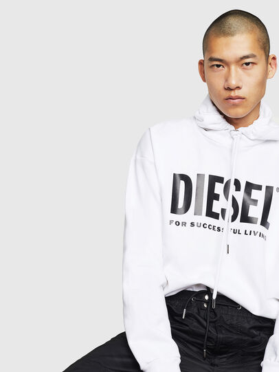 Diesel - S-DIVISION-LOGO, Blanc - Pull Cotton - Image 4