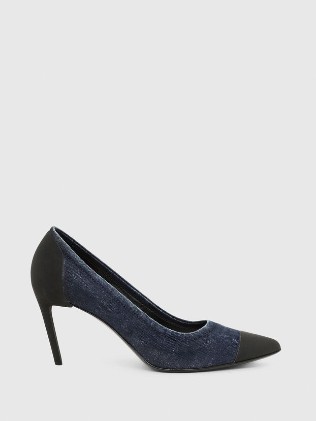 D-SLANTY MHT, Bleu - Chaussures À Talon