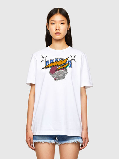 Diesel - CL-T-JUST-O1, Blanc - T-Shirts - Image 2