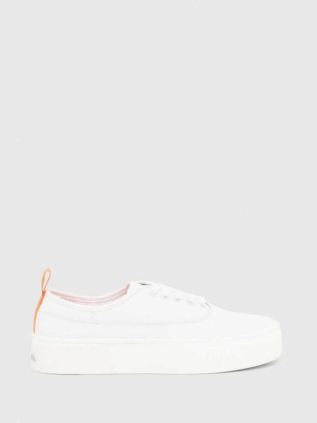 S-VANEELA LOW, Blanc/Orange - Baskets