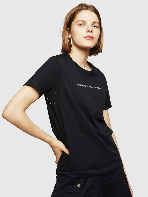 T-SILY-WR, Noir - T-Shirts