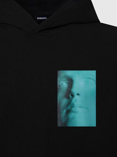 Diesel - T-JUST-LS-HOOD-X30, Black - T-Shirts - Image 3