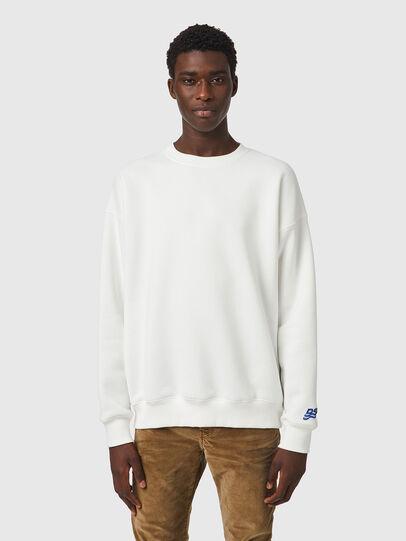 Diesel - S-MART-RIB-B1, White - Sweatshirts - Image 1