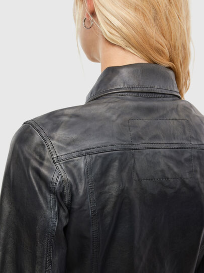 Diesel - L-SHAE, Noir - Vestes de cuir - Image 4