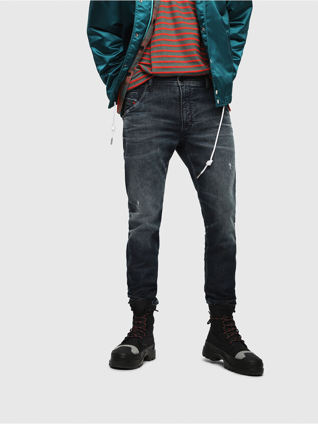 Krooley JoggJeans 087AI, Bleu Foncé - Jeans