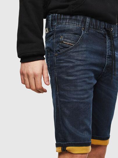 Diesel - D-KROOSHORT JOGGJEANS, Bleu Foncé - Shorts - Image 4