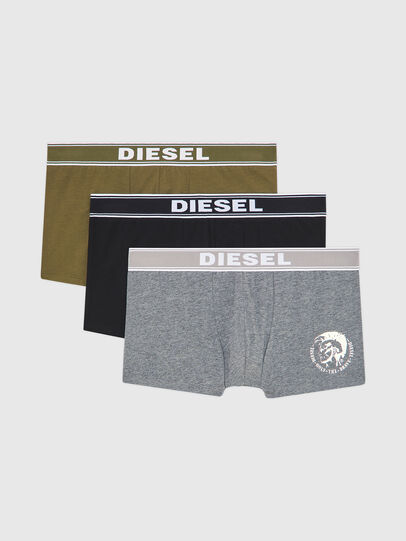 Diesel - UMBX-SHAWNTHREEPACK, Noir/Gris - Boxeurs courts - Image 1