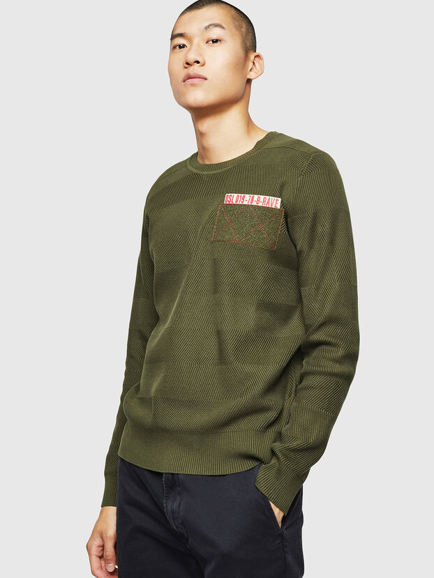 K-STLE, Vert Militaire - Pull Maille