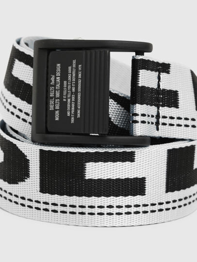 Diesel - B-MASER, Blanc/Noir - Ceintures - Image 2