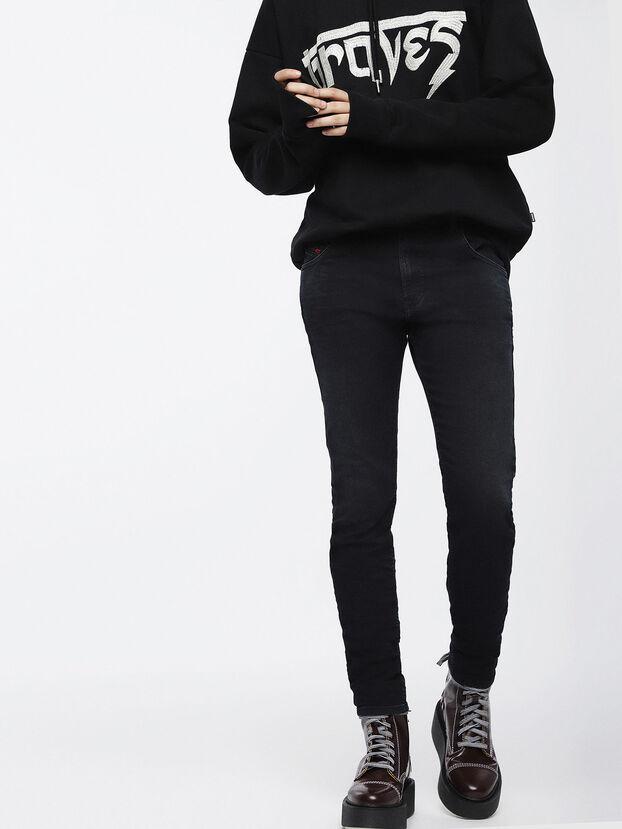 Krailey JoggJeans 069CM, Noir/Gris foncé - Jeans
