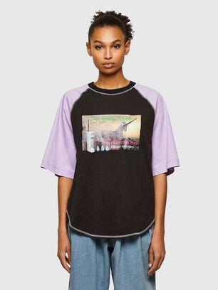 T-SPO, Noir/Violet - T-Shirts