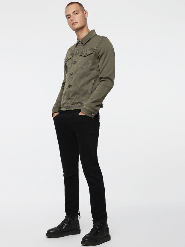 ELSHAR JOGGJEANS, Military Green - Denim Jackets