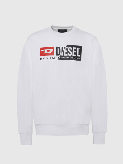 Diesel - S-GIRK-CUTY, Blanc - Pull Cotton - Image 1