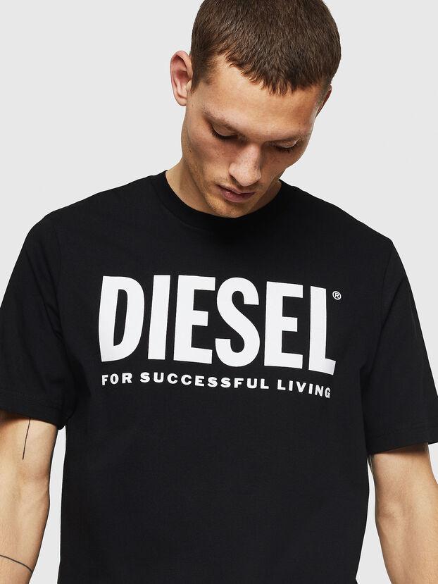T-JUST-LOGO, Black - T-Shirts