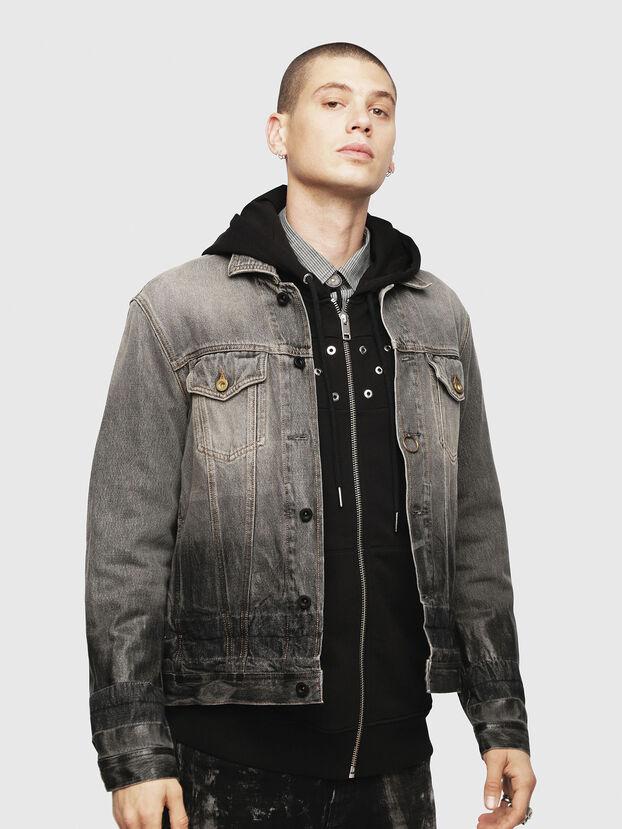 NHILL, Black/Dark Grey - Denim Jackets