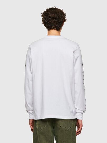 Diesel - T-JUST-LS-B50, White - T-Shirts - Image 2