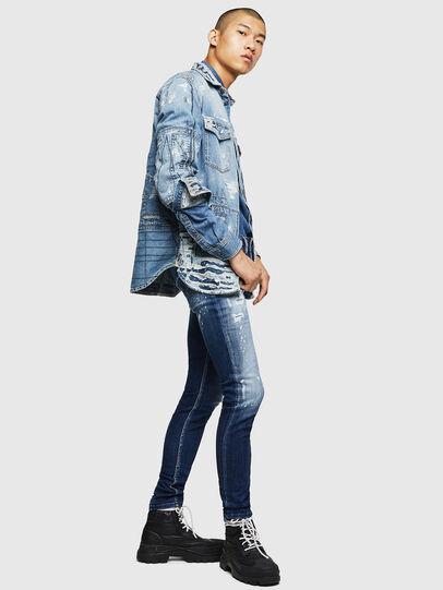Diesel - Sleenker 0091Y, Bleu moyen - Jeans - Image 6