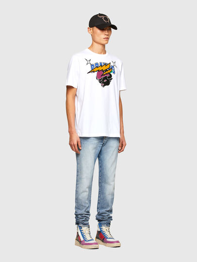 Diesel - CL-T-JUST-O1, Blanc - T-Shirts - Image 7